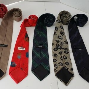 Lot of 5 Mens Hugo Boss Ties